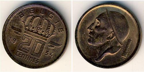 20 Centime Belgium Bronze