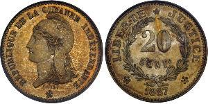 20 Centime French Guiana Copper/Nickel
