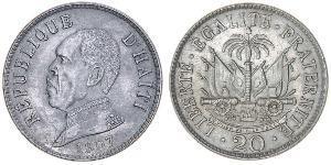 20 Centime Haiti Copper/Nickel