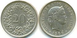 20 Centime Suisse Cuivre/Nickel