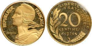 20 Centime France / French Fifth Republic (1958 - ) Gold