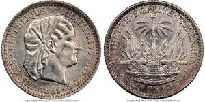20 Centime / 1/5 Gourde Haiti 銀