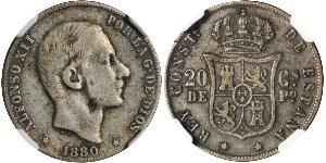 20 Centimo Philippines Silver