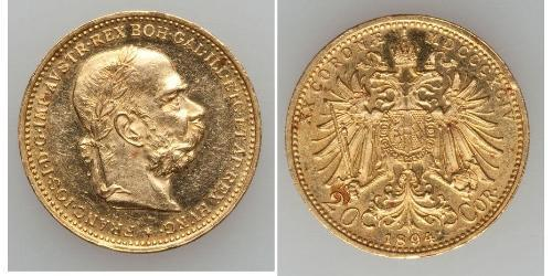 20 Corona Австро-Угорщина (1867-1918) Золото Франц Иосиф I (1830 - 1916)