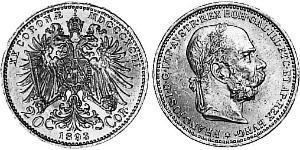 20 Corona Austria-Hungary (1867-1918) Gold Franz Joseph I (1830 - 1916)