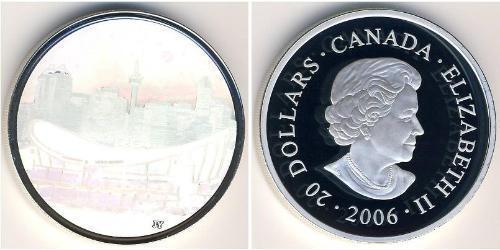 20 Dólar Canadá Plata