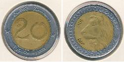 20 Dinar Algerien Bimetall