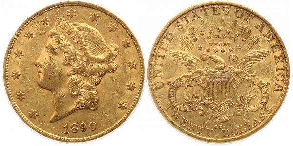 20 Dollar 美利堅合眾國 (1776 - ) 金