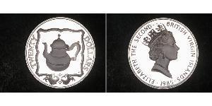 20 Dollar Îles Vierges Argent Elizabeth II (1926-)