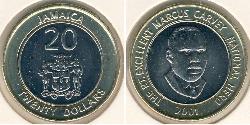 20 Dollar Jamaica (1962 - ) Bimetal