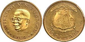20 Dollar Liberia Gold William Tubman