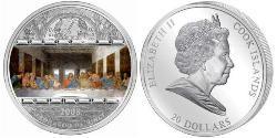 20 Dollar Cook Islands Silver Elizabeth II (1926-)