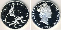 20 Dollar Cook Islands Silver