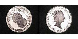 20 Dollar Virgin Islands Silver Elizabeth II (1926-)
