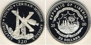20 Dollaro Liberia Argento