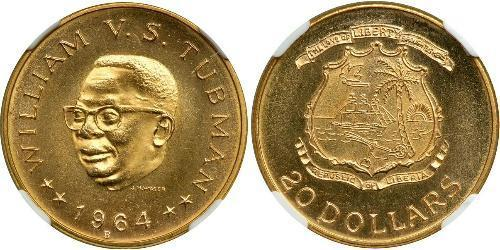 20 Dollaro Liberia Oro William Tubman
