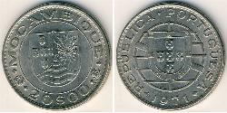 20 Escudo Mozambique Nickel