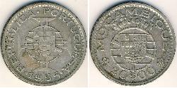 20 Escudo Mozambique Plata