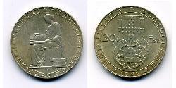 20 Escudo Second Portuguese Republic (1933 - 1974) Silver
