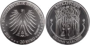 20 Euro Allemagne (1990 - ) Argent