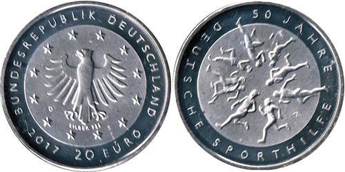 20 Euro Repubblica Federale di Germania (1990 - ) Argento