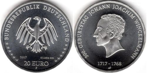 20 Euro Federal Republic of Germany (1990 - ) Silver