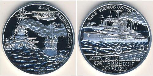 20 Euro First Austrian Republic (1918-1934) Silver