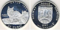 20 Euro Norway Silver