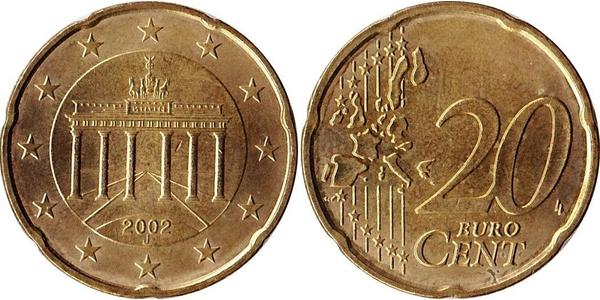 20 Eurocent Federal Republic of Germany (1990 - ) Brass