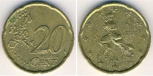 20 Eurocent Italia Bronce