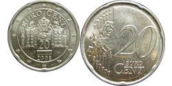 20 Eurocent Republic of Austria (1955 - ) Copper
