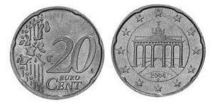 20 Eurocent Allemagne (1990 - ) Laiton