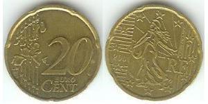 20 Eurocent French Fifth Republic (1958 - ) Tin/Aluminium/Copper/Zinc