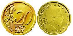 20 Eurocent Luxembourg Tin/Aluminium/Copper/Zinc