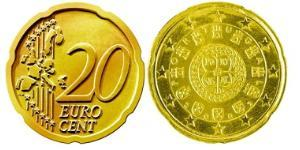 20 Eurocent Portuguese Republic (1975 - ) Tin/Aluminium/Copper/Zinc