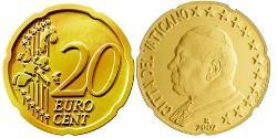 20 Eurocent Vatican (1926-) Tin/Aluminium/Copper/Zinc John Paul II (1920 - 2005)