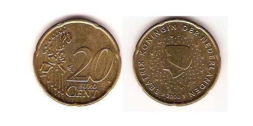 20 Eurocent Königreich der Niederlande (1815 - ) Tin/Aluminium/Kupfer/Zink