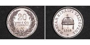 20 Filler 匈牙利王国 镍