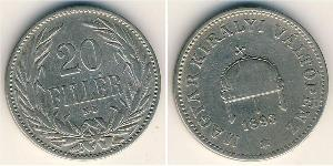 20 Filler Kingdom of Hungary (1000-1918) Nickel