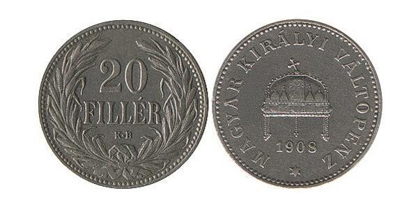 20 Filler Kingdom of Hungary (1000-1918) Nickel
