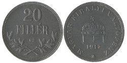 20 Filler Ungarn (1989 - ) Stahl
