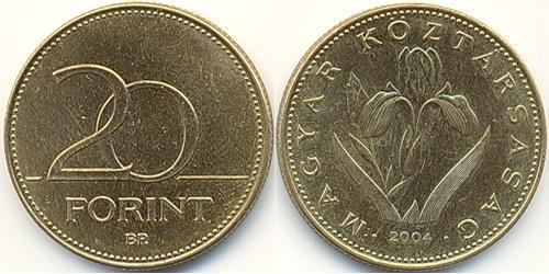 20 Forint Hungría (1989 - ) Latón