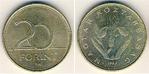 20 Forint Ungarn (1989 - ) Messing
