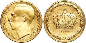 20 Franc 卢森堡 金 让 (卢森堡大公) (1921 - 1964)