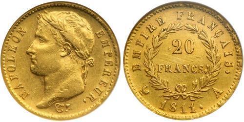 20 Franc 法兰西第一帝国 (1804 - 1814) 金 拿破仑一世(1769 - 1821)