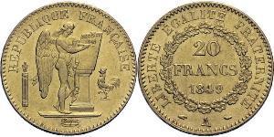 20 Franc 法兰西第三共和国 (1870 - 1940) 金