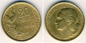 20 Franc Quarta Repubblica francese (1946-1958) Alluminio/Bronzo