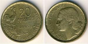 20 Franc Cuarta República francesa (1946-1958) Aluminio/Bronce