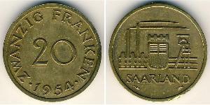 20 Franc  Bronze/Aluminium