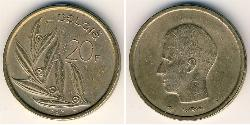 20 Franc Belgium Bronze/Nickel